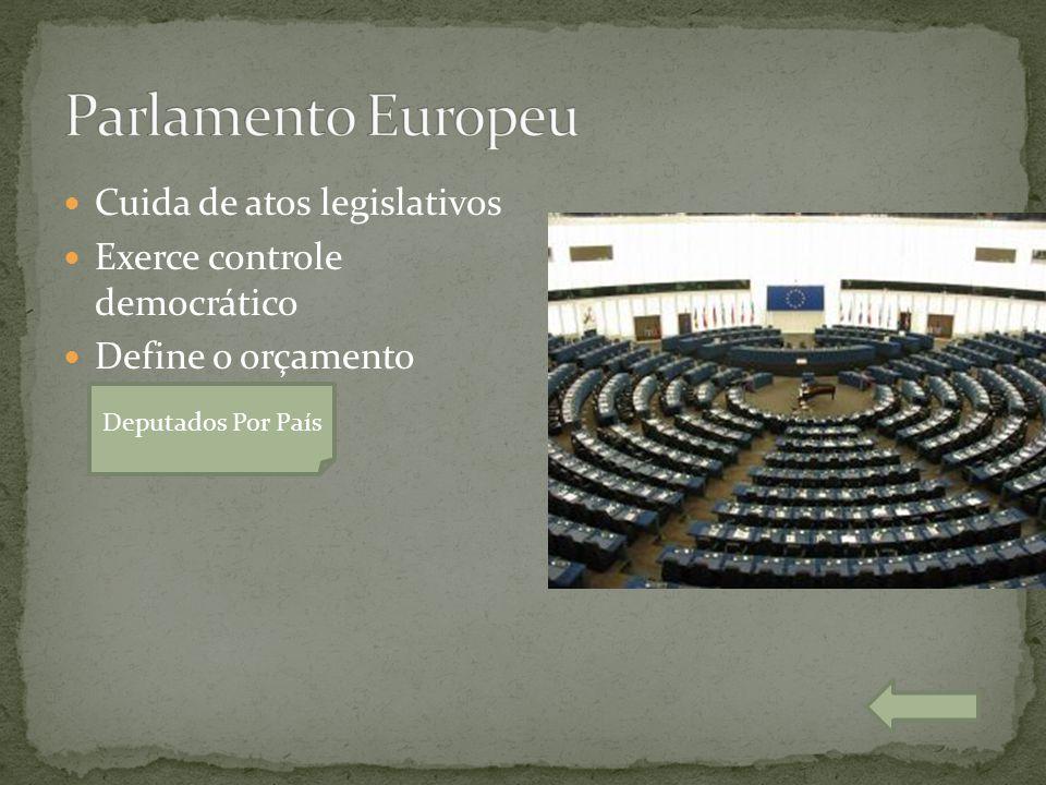  Cuida de atos legislativos  Exerce controle democrático  Define o orçamento Deputados Por País Nota 10