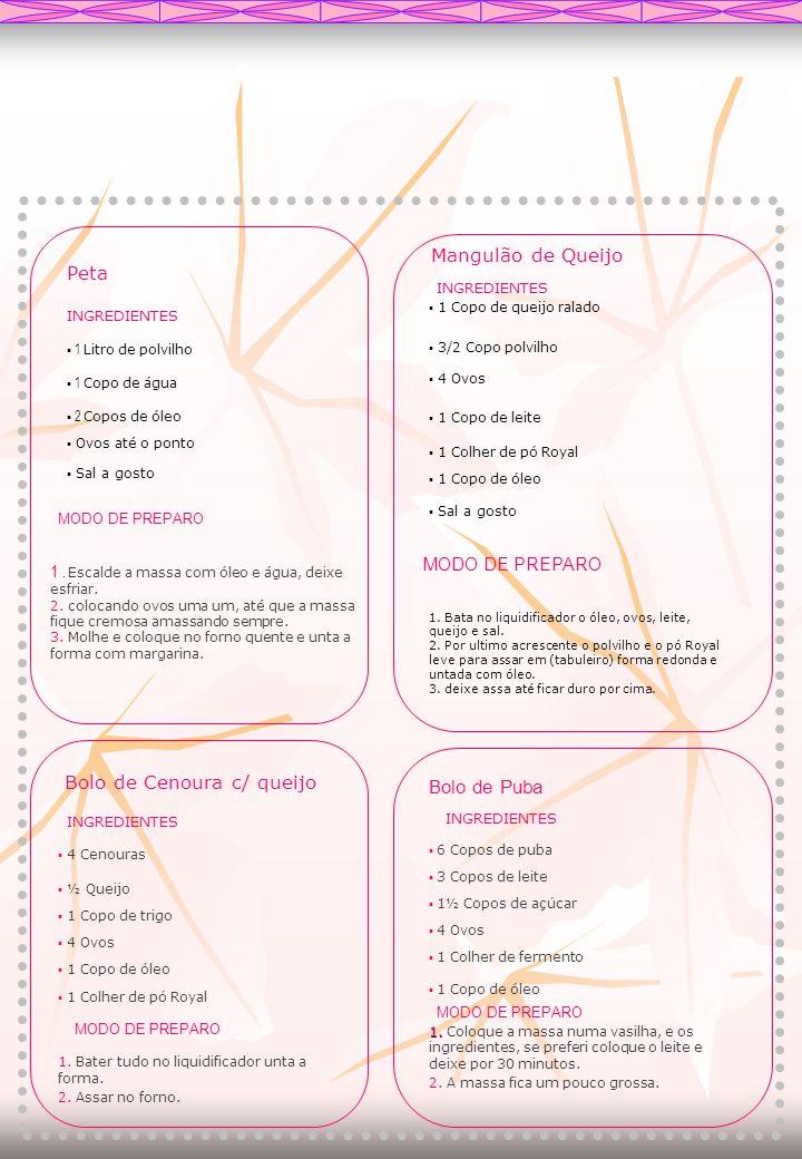 COCADA DE MARACUJÁ Ingredientes - 03 xícaras (chá) de açúcar; - 1 ½ xícara (chá) de suco de maracujá; - 02 gemas; - 03 cravos-da-índia; - 3 ½ xícara (chá) de coco ralado.