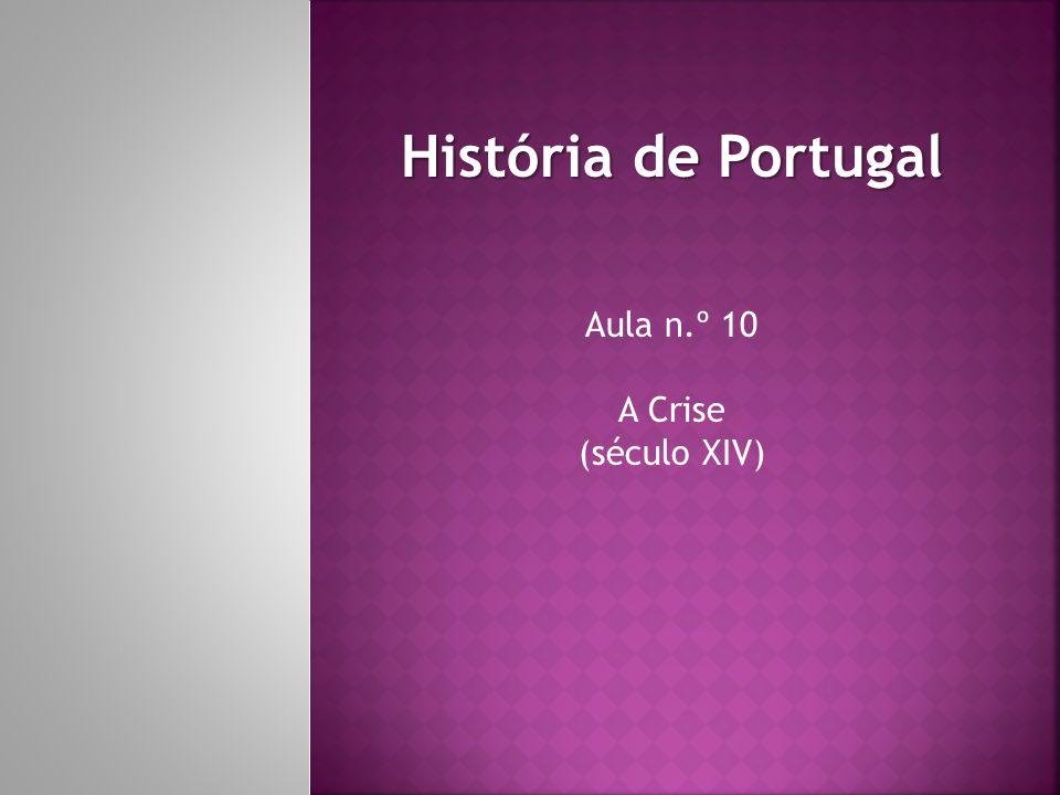 A Crise Ao contrário do século anterior, o século XIV foi um período de crise que abalou toda a Europa, não deixando ileso Portugal.
