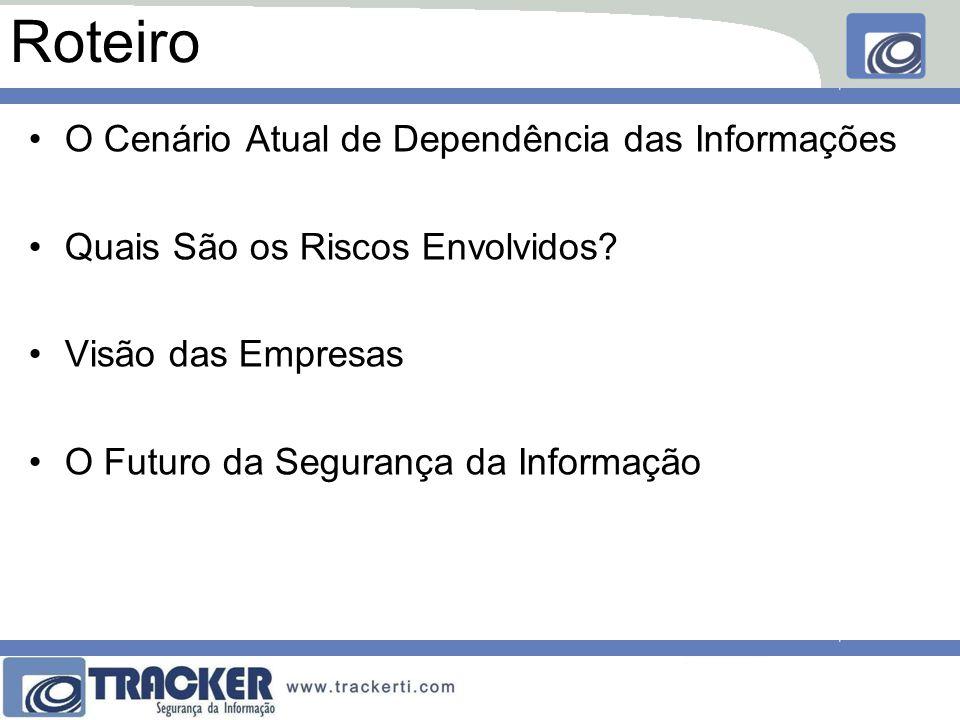 Espionagem ou Fraude Interna •Funcionário mal intencionado •Copia ou altera informações da empresa •Acessa o que não deveria ( servidor, docs )
