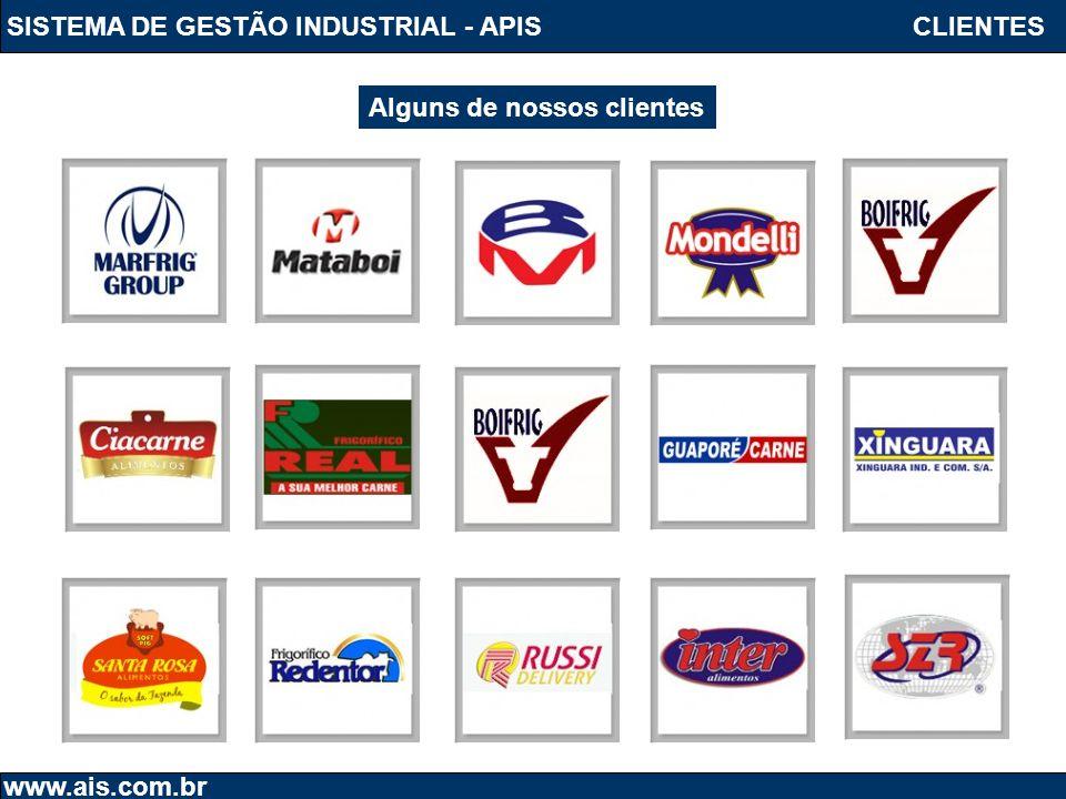 SISTEMA DE GESTÃO INDUSTRIAL - APIS www.ais.com.br Alguns de nossos clientes CLIENTES