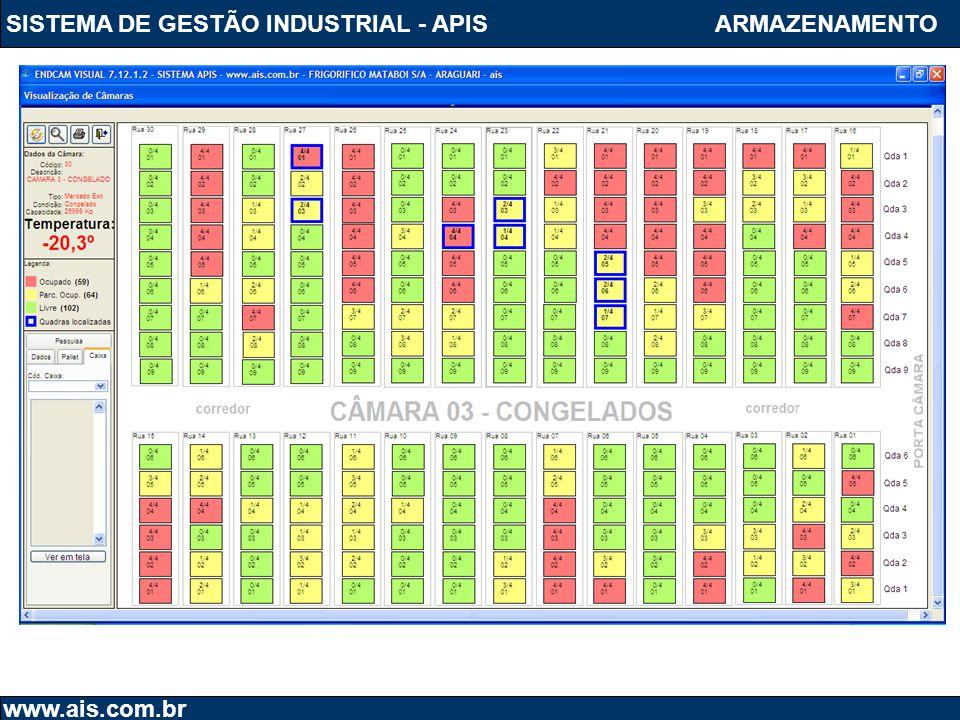 SISTEMA DE GESTÃO INDUSTRIAL - APIS www.ais.com.br ARMAZENAMENTO