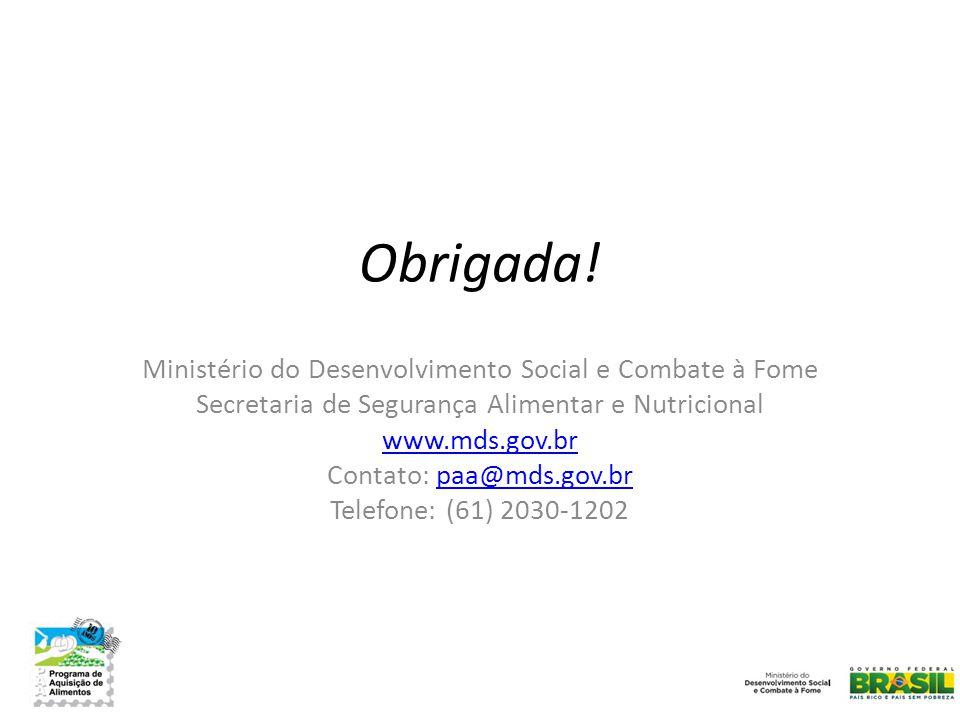 Ministério do Desenvolvimento Social e Combate à Fome Secretaria de Segurança Alimentar e Nutricional www.mds.gov.br Contato: paa@mds.gov.brpaa@mds.go