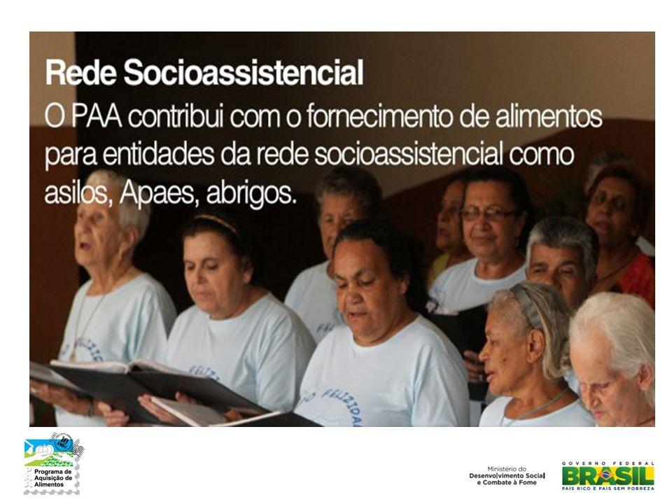 Entidades atendidas • 19.681 entidades receberam alimentos do PAA em 2012:
