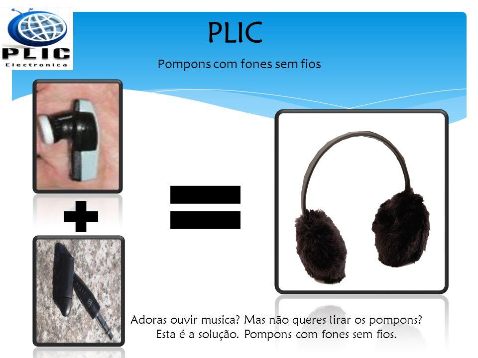 PLIC Pompons com fones sem fios Adoras ouvir musica.