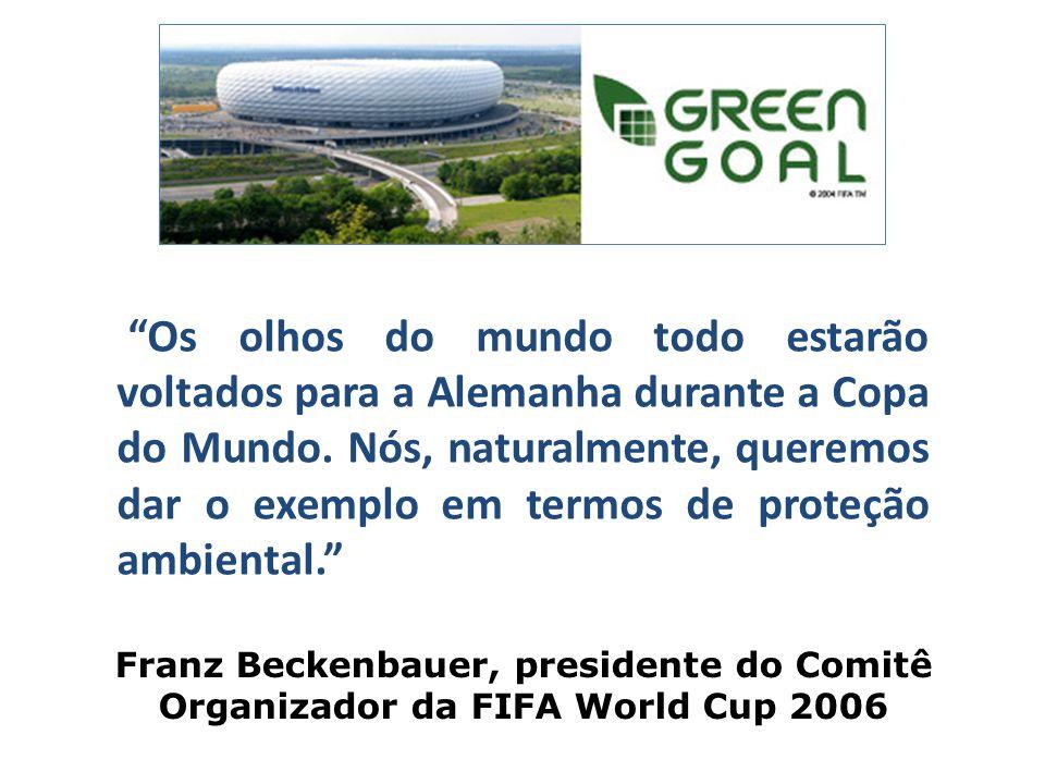 """Franz Beckenbauer, presidente do Comitê Organizador da FIFA World Cup 2006 """"Os olhos do mundo todo estarão voltados para a Alemanha durante a Copa do"""