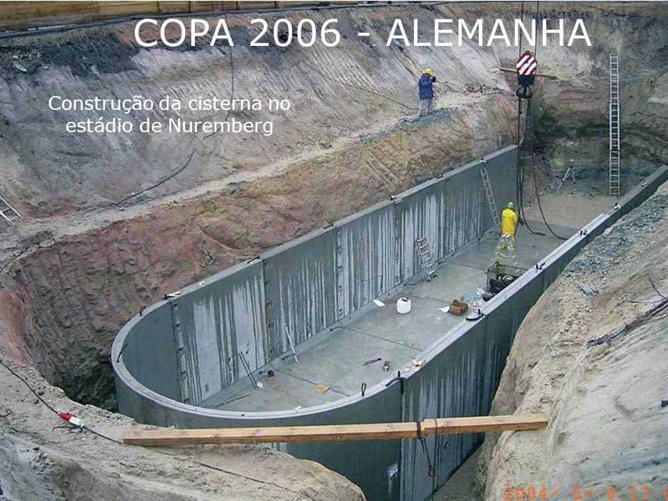 Construção da cisterna no estádio de Nuremberg COPA 2006 - ALEMANHA