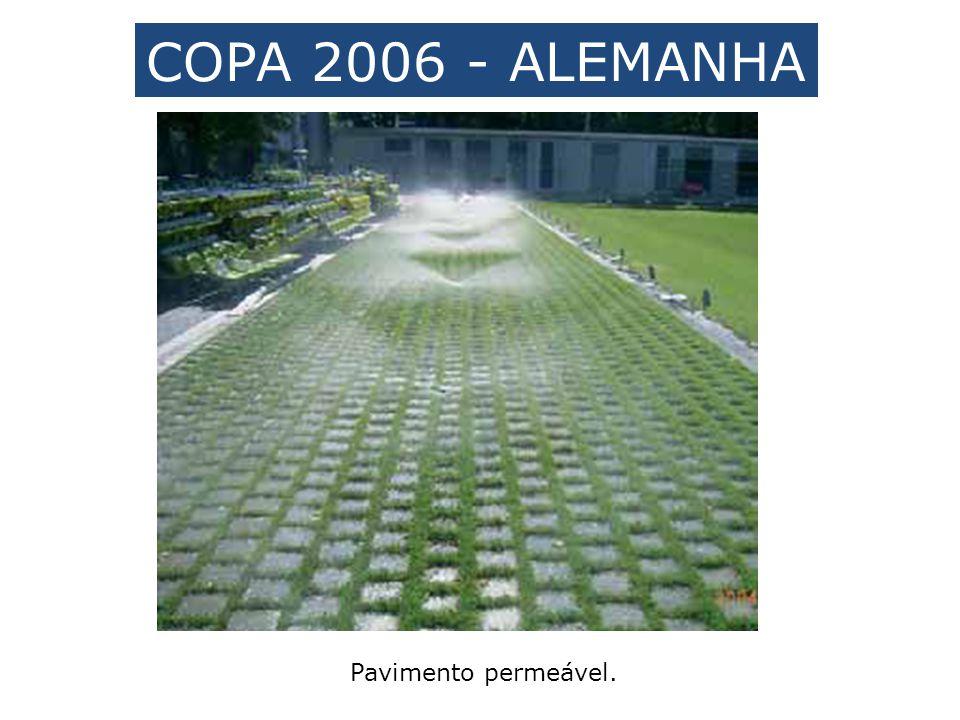 Pavimento permeável. COPA 2006 - ALEMANHA