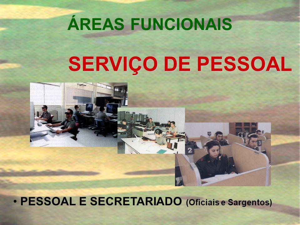 ÁREAS FUNCIONAIS • MANUTENÇÃO DE ARMAMENTO • MANUTENÇÃO DE VIATURAS • MANUTENÇÃO GERAL • MANUTENÇÃO ELECTRÓNICA • MANUTENÇÃO DE AERONAVES SERVIÇO DE M