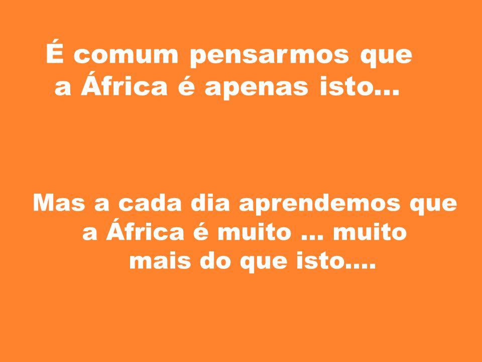 É comum pensarmos que a África é apenas isto... Mas a cada dia aprendemos que a África é muito... muito mais do que isto....
