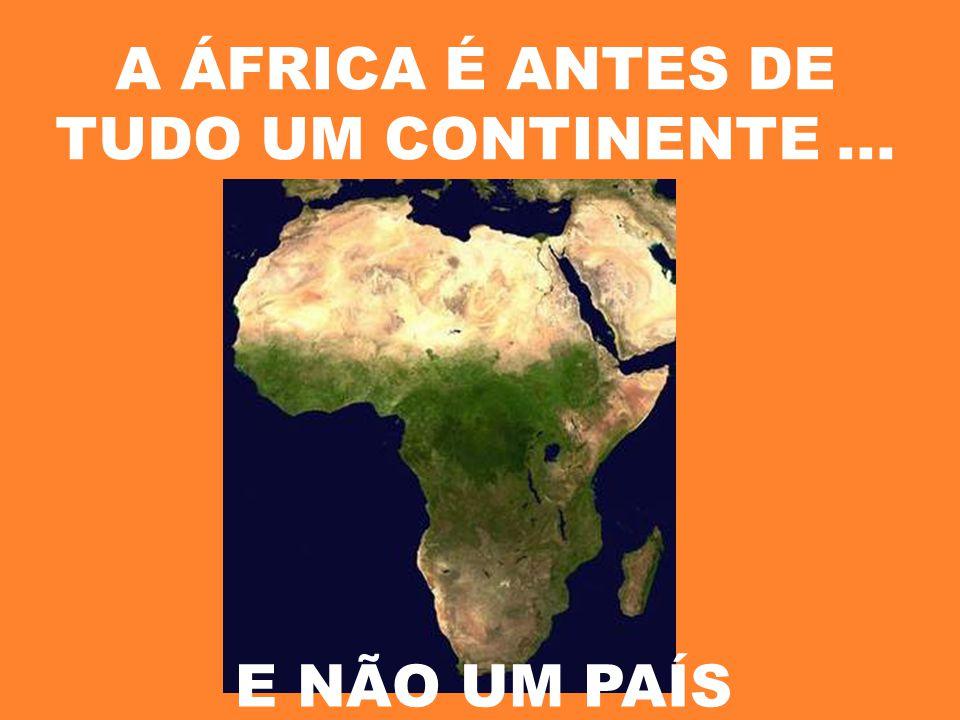 A ÁFRICA É ANTES DE TUDO UM CONTINENTE... E NÃO UM PAÍS