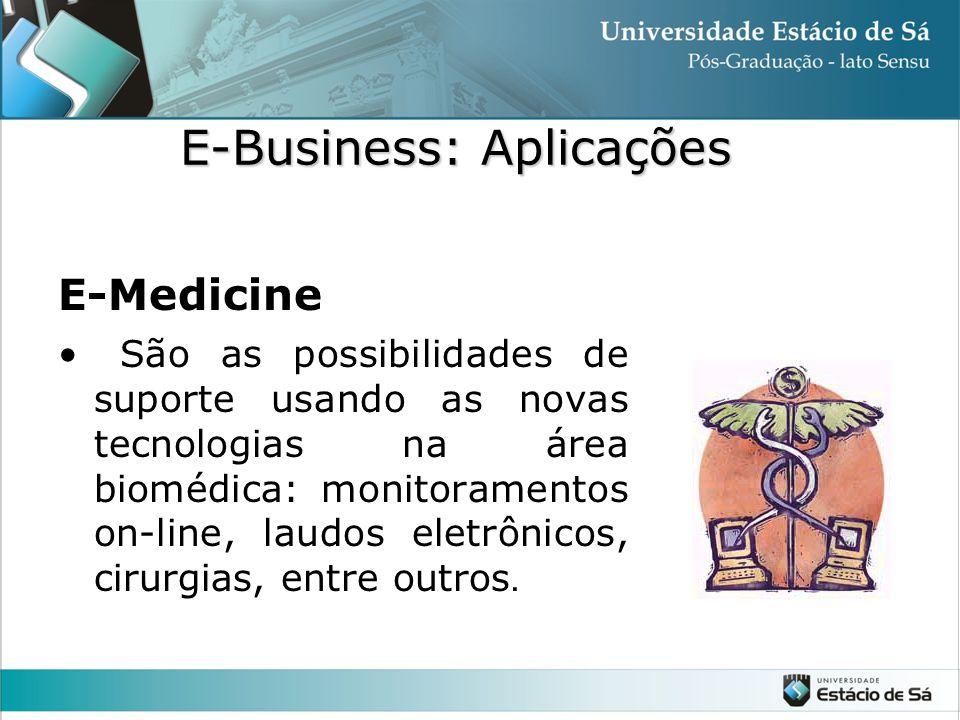 E-Medicine • São as possibilidades de suporte usando as novas tecnologias na área biomédica: monitoramentos on-line, laudos eletrônicos, cirurgias, en