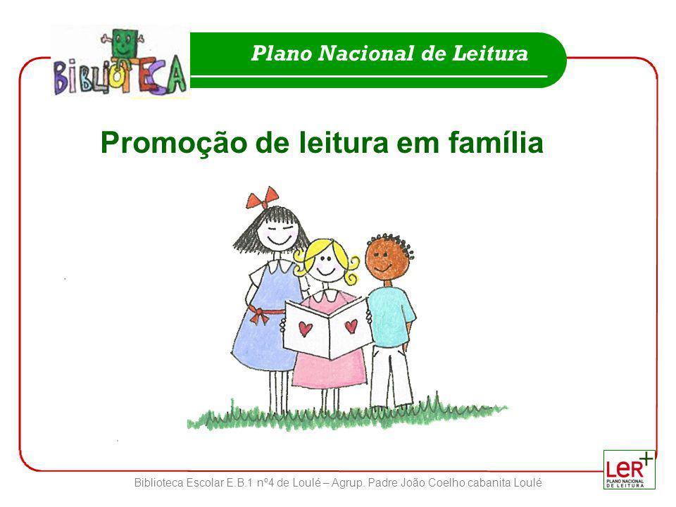 Biblioteca Escolar E.B.1 nº4 de Loulé – Agrup. Padre João Coelho cabanita Loulé Plano Nacional de Leitura Promoção de leitura em família