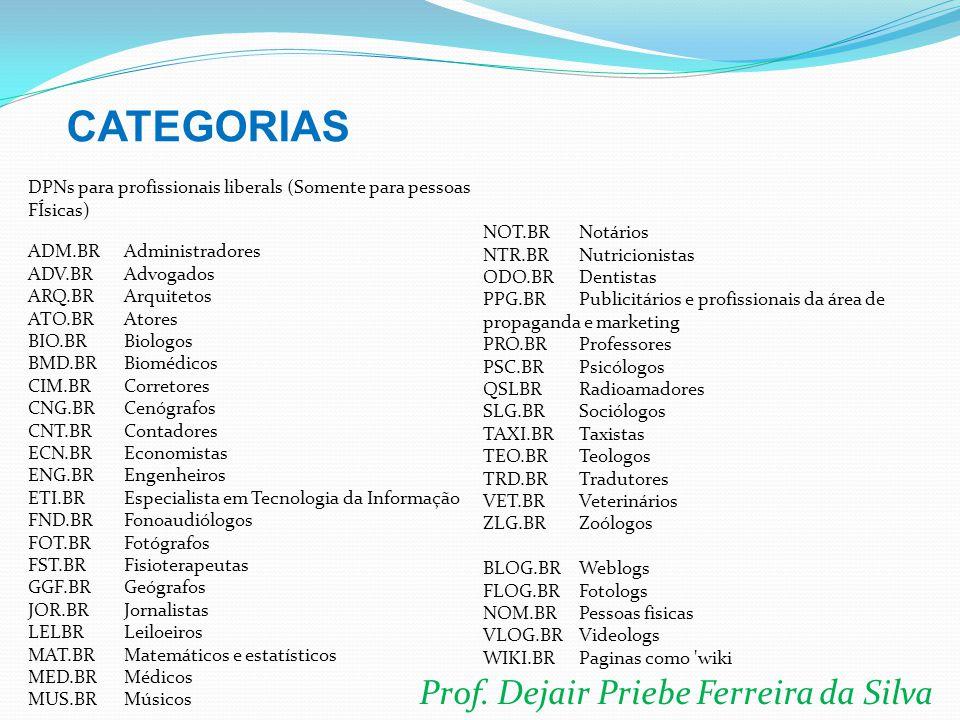 Prof. Dejair Priebe Ferreira da Silva DPNs para profissionais liberals (Somente para pessoas FÍsicas) ADM.BRAdministradores ADV.BRAdvogados ARQ.BRArqu