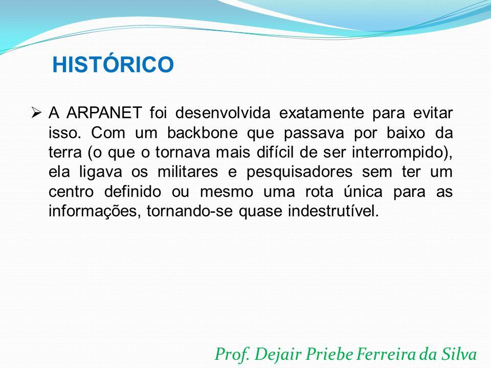 Prof. Dejair Priebe Ferreira da Silva  A ARPANET foi desenvolvida exatamente para evitar isso. Com um backbone que passava por baixo da terra (o que