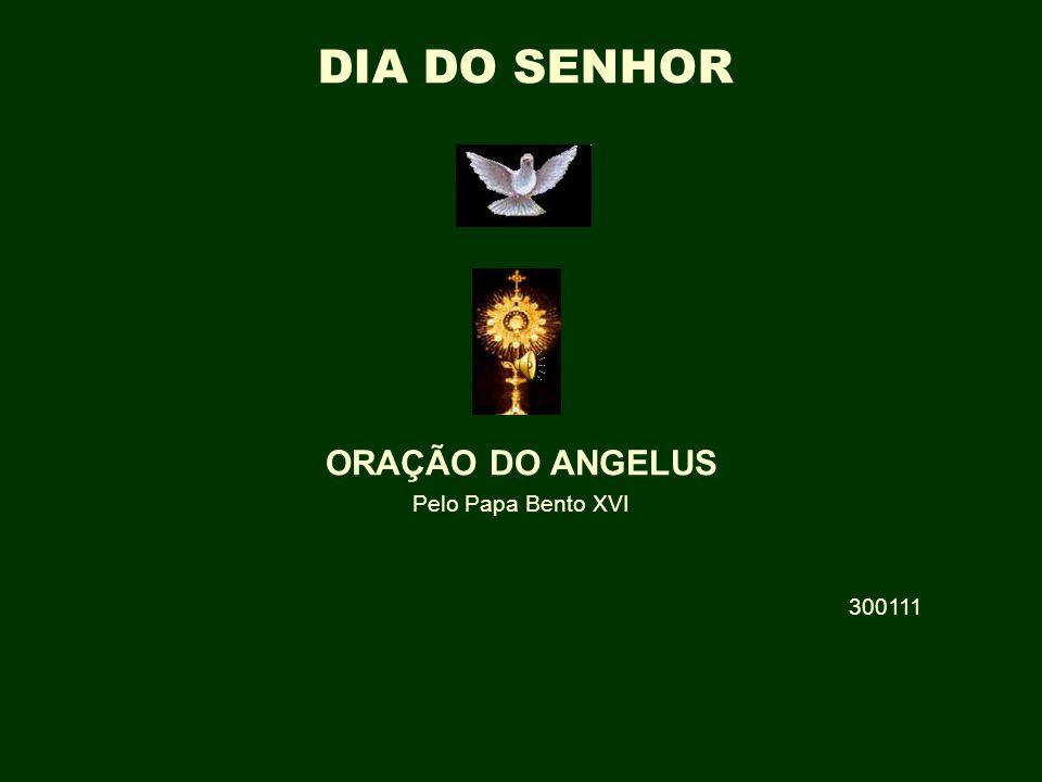† ORAÇÃO DO ANGELUS Pelo Papa Bento XVI 300111 DIA DO SENHOR