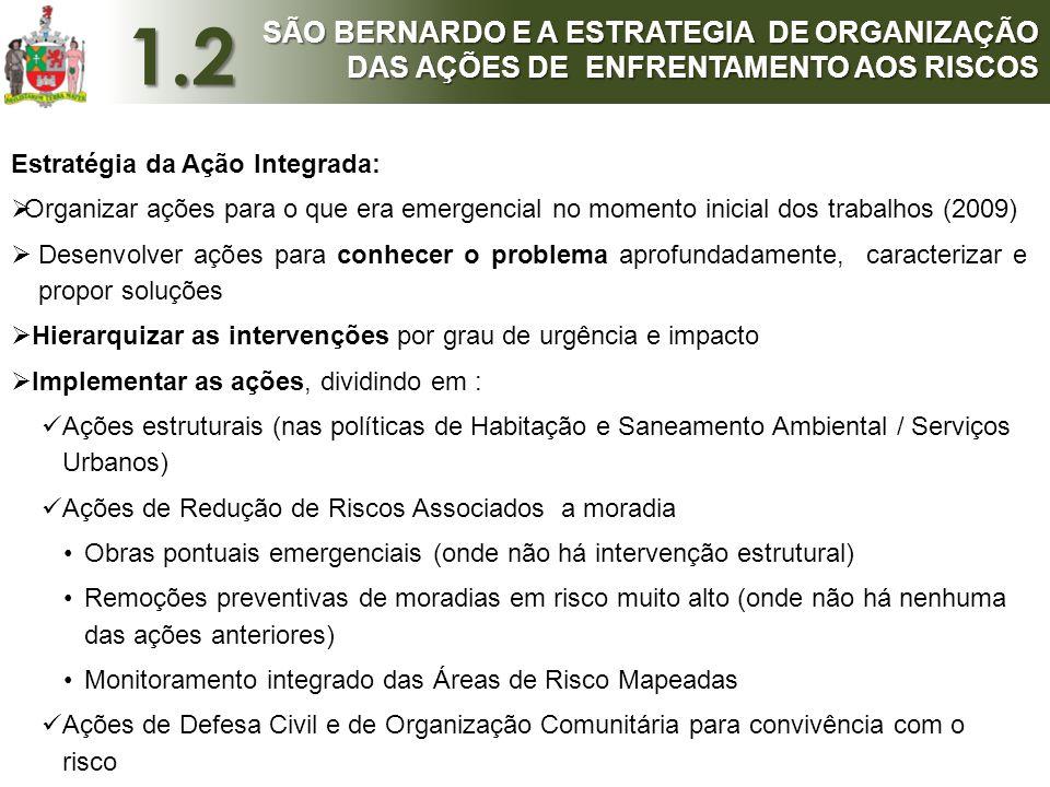 Estratégia da Ação Integrada:  Organizar ações para o que era emergencial no momento inicial dos trabalhos (2009)  Desenvolver ações para conhecer o