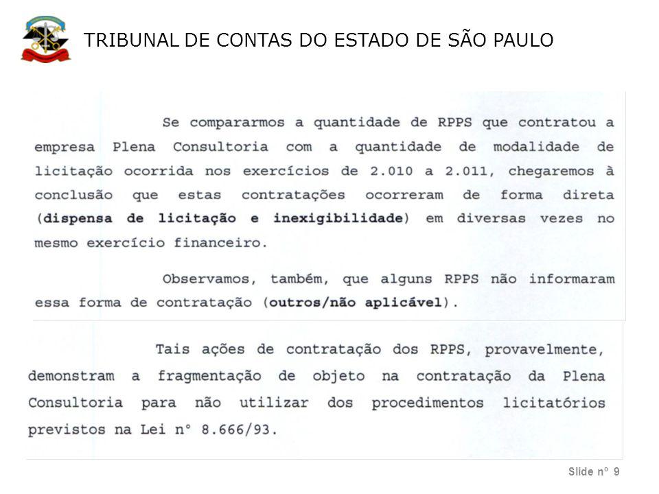 TRIBUNAL DE CONTAS DO ESTADO DE SÃO PAULO Escola de Contas Públicas Slide nº 40