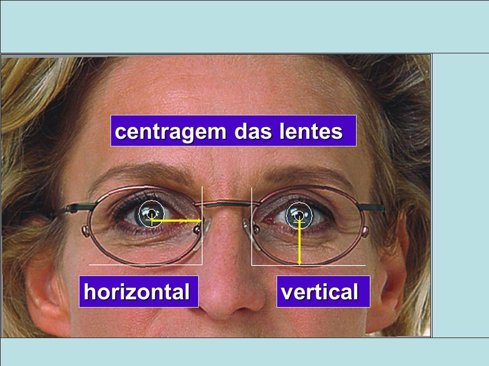 centragem das lentes horizontalvertical