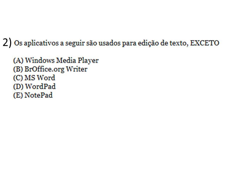 23) Se executarmos o comando EXCLUIR sobre o ícone de um arquivo, no Windows, e posteriormente, este não se encontrar na lixeira, a explicação mais correta para o fato é que: a)O item excluído era uma pasta b)O item excluído estava dentro da pasta Windows c)O item estava no disquete (A:).
