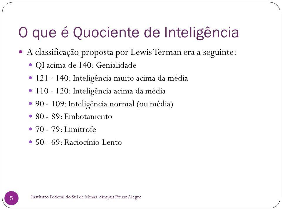 O que é Quociente de Inteligência Instituto Federal do Sul de Minas, câmpus Pouso Alegre 6  Testes de QI geraram críticas desde o início.
