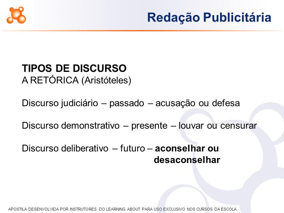 APOSTILA DESENVOLVIDA POR INSTRUTORES DO LEARNING ABOUT PARA USO EXCLUSIVO NOS CURSOS DA ESCOLA.