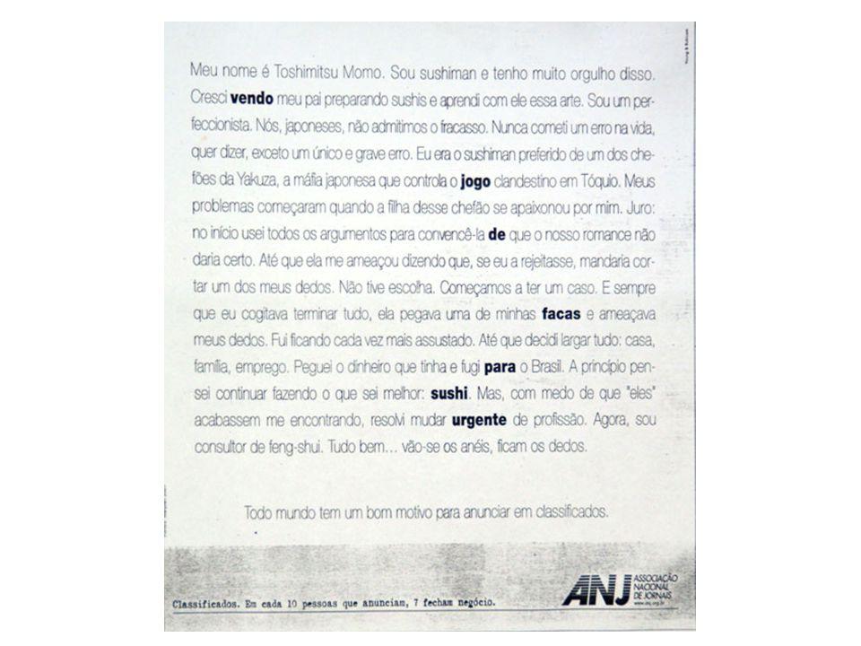 APOSTILA DESENVOLVIDA POR INSTRUTORES DO LEARNING ABOUT PARA USO EXCLUSIVO NOS CURSOS DA ESCOLA. Redação Publicitária