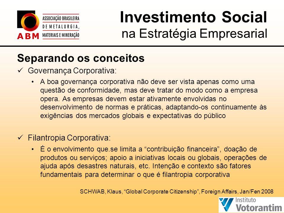 Separando os conceitos  Governança Corporativa: •A boa governança corporativa não deve ser vista apenas como uma questão de conformidade, mas deve tratar do modo como a empresa opera.