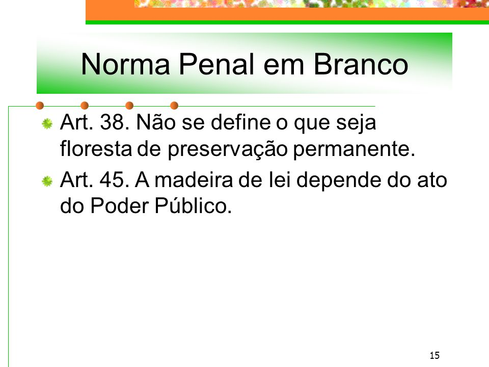 14 Norma Penal em Branco Art.