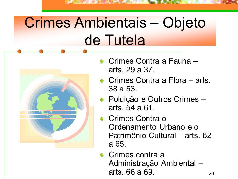 19 Apuração da Infração Penal As infrações penais contra o meio ambiente são de ação pública incondicionada (art.