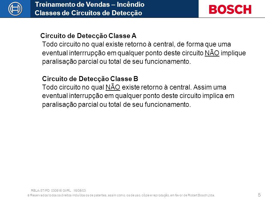 © Reservados todos os direitos incluídos os de patentes, assim como, os de uso, cópia e reprodução, em favor de Robert Bosch Ltda. 5 Circuito de Detec