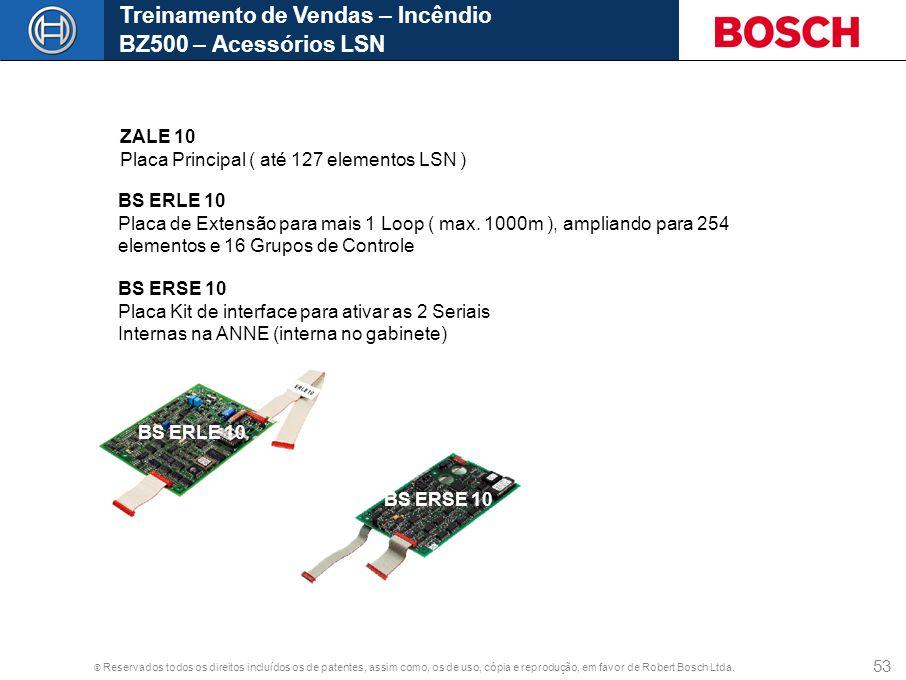 © Reservados todos os direitos incluídos os de patentes, assim como, os de uso, cópia e reprodução, em favor de Robert Bosch Ltda. 53 Treinamento de V