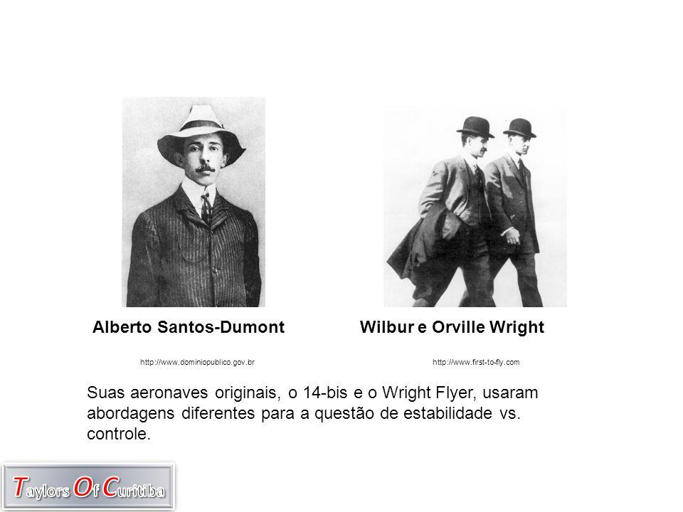 Wilbur e Orville Wright Suas aeronaves originais, o 14-bis e o Wright Flyer, usaram abordagens diferentes para a questão de estabilidade vs. controle.