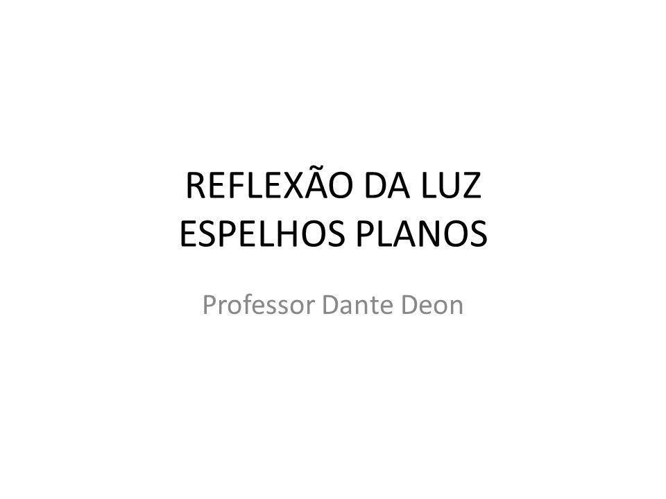 REFLEXÃO DA LUZ ESPELHOS PLANOS Professor Dante Deon