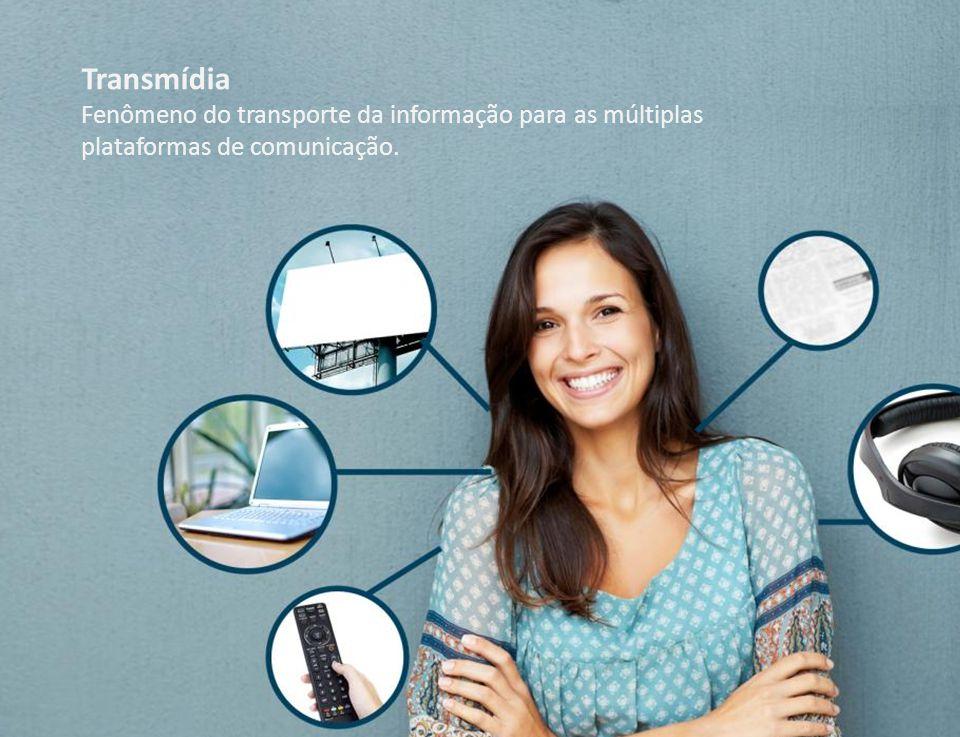 Transmídia Fenômeno do transporte da informação para as múltiplas plataformas de comunicação.