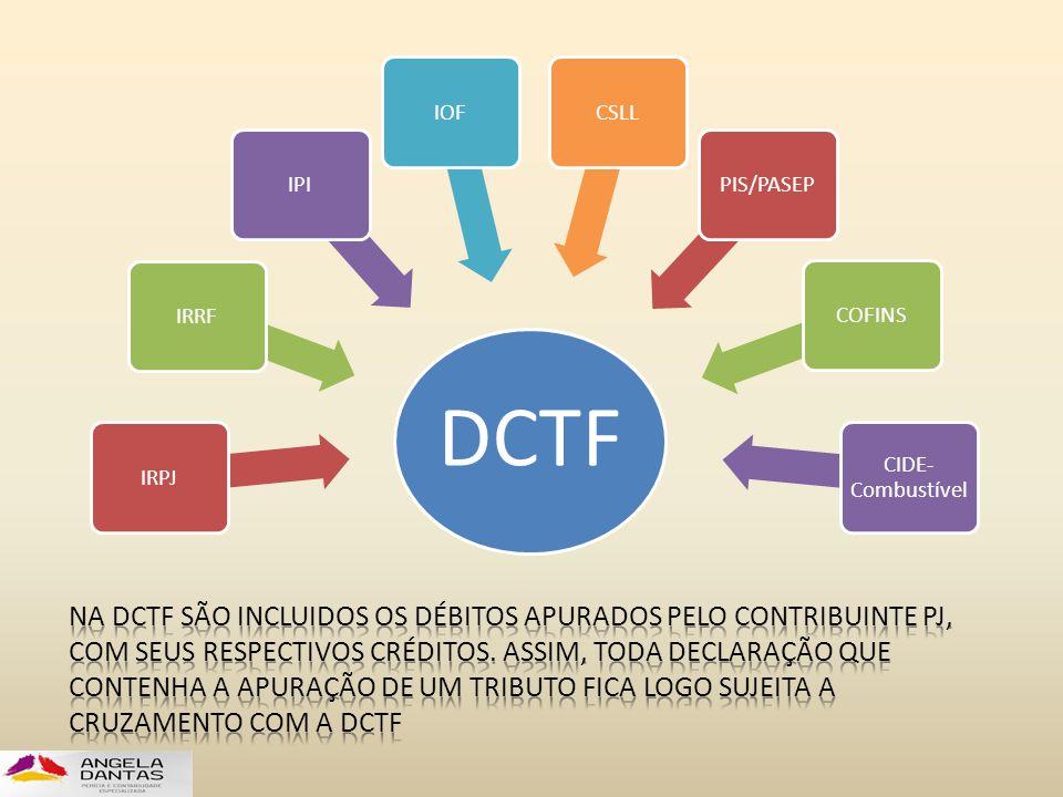 DCTF IRPJIRRFIPIIOFCSLLPIS/PASEPCOFINS CIDE- Combustível