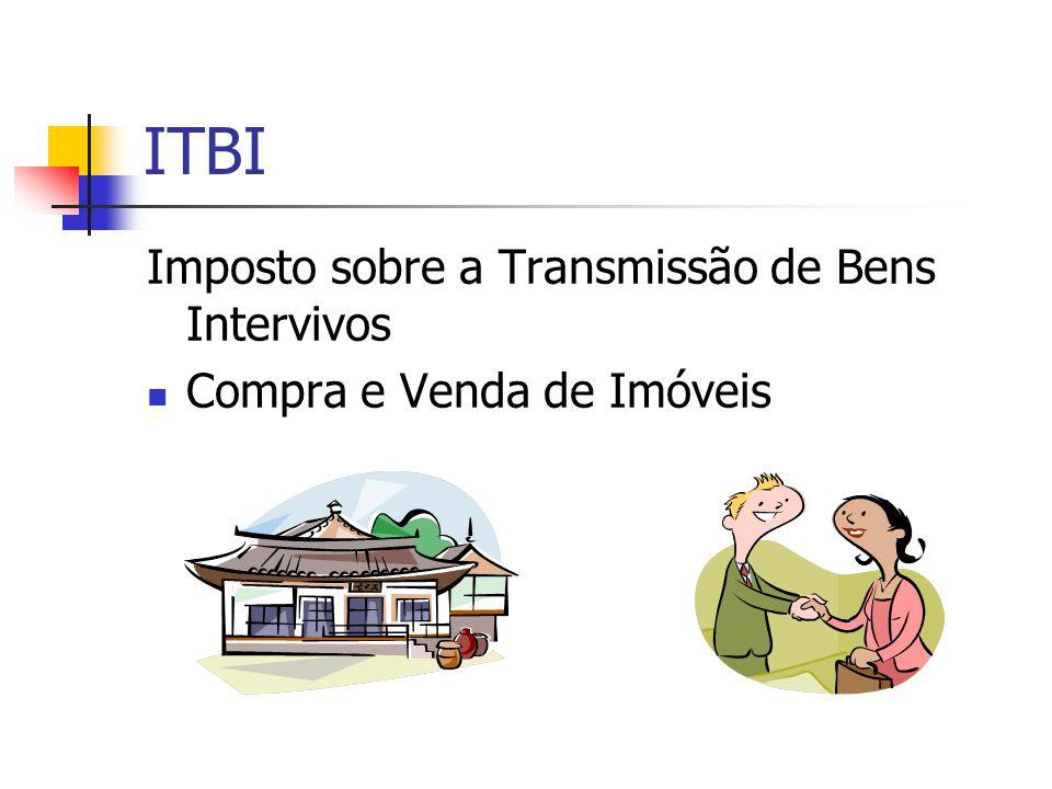 ITBI Imposto sobre a Transmissão de Bens Intervivos  Compra e Venda de Imóveis