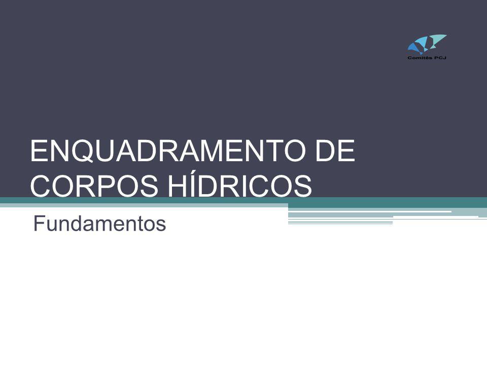 ENQUADRAMENTO DE CORPOS HÍDRICOS Fundamentos