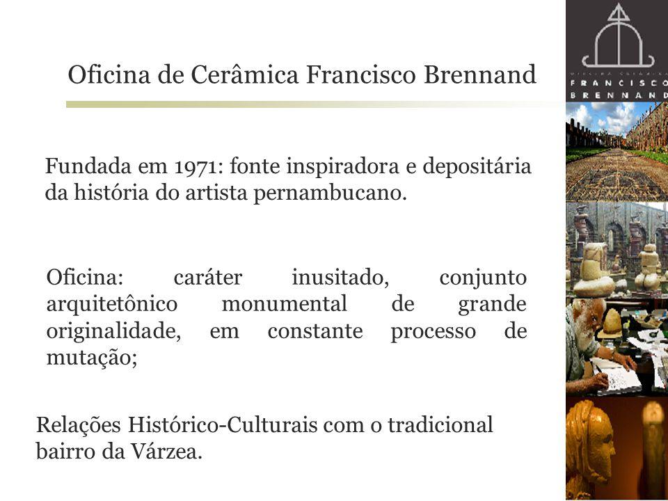 Oficina de Cerâmica Francisco Brennand Fundada em 1971: fonte inspiradora e depositária da história do artista pernambucano. Oficina: caráter inusitad