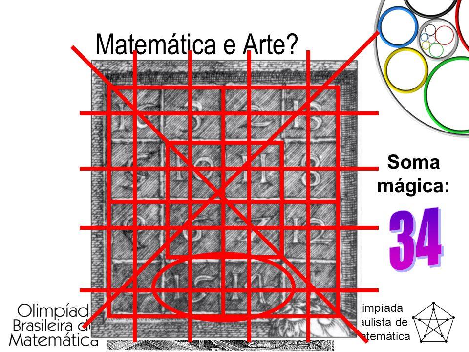 Olimpíada Paulista de Matemática Matemática e Arte? Soma mágica:
