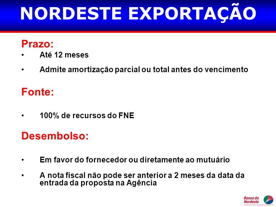ACC / ACE É a antecipação do valor em moeda nacional de um contrato de câmbio de exportação fechado à prazo com o BNB.