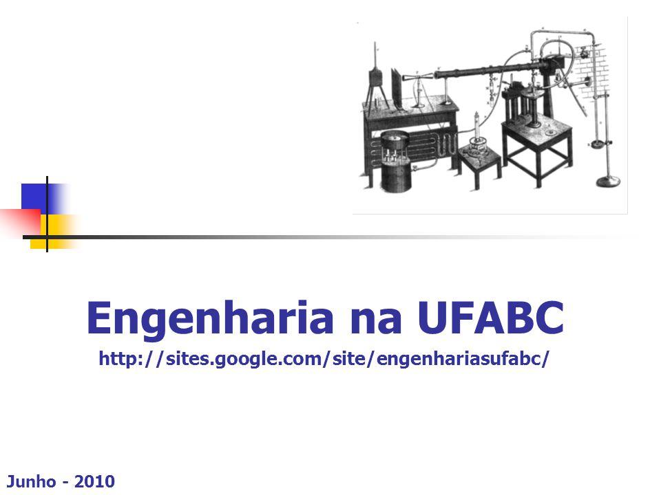 Modelo das Engenharias  Sistematização das propostas curriculares: a descrição apresentada corresponde ao projeto curricular, sendo proposto pelo CECS, para a formação de engenheiros da UFABC.