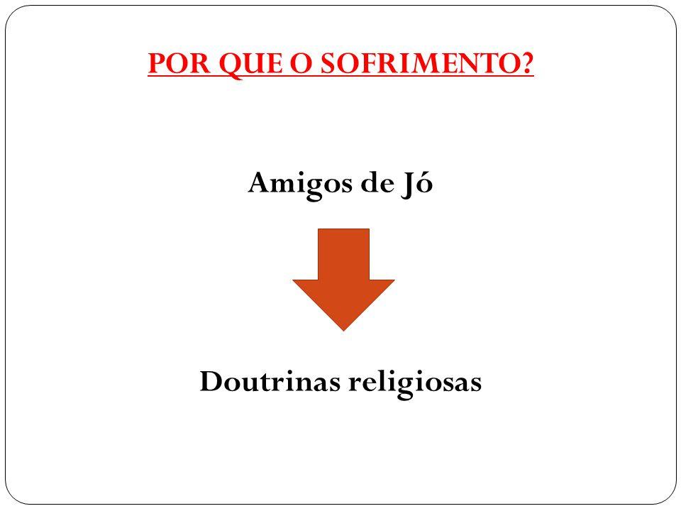 POR QUE O SOFRIMENTO? Amigos de Jó Doutrinas religiosas