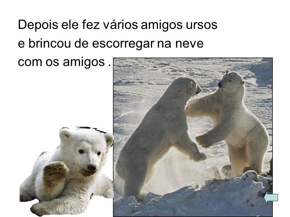 De repente ele estava correndo e virou um urso porque ele bebeu uma fonte mágica e virou um urso.