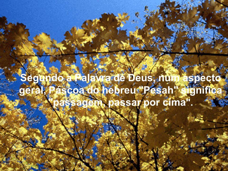Segundo a Palavra de Deus, num aspecto geral, Páscoa do hebreu
