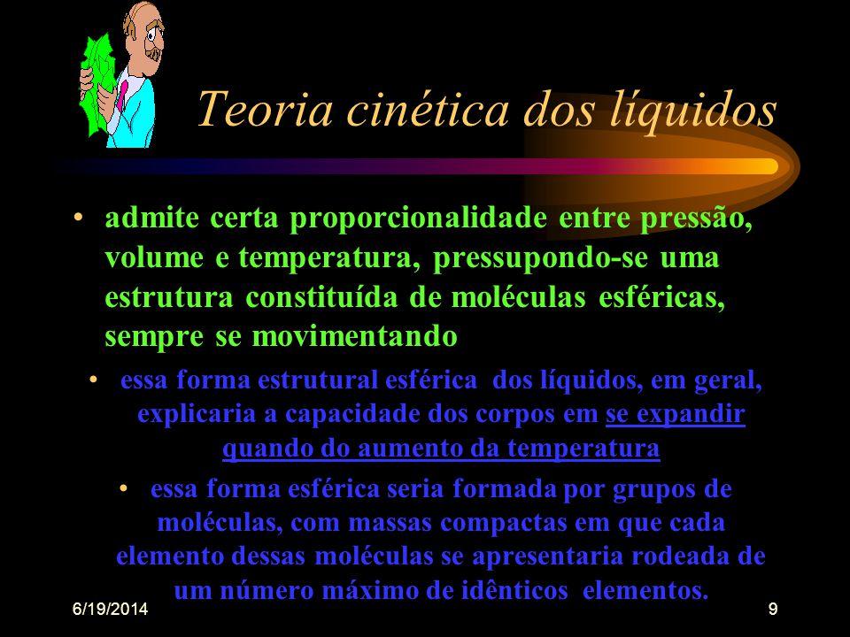 6/19/20148 Água - propriedades físicas •expandir o seu volume ou capacidade de ocupar maior espaço quando em estado cristalino - TºC baixissima •apres
