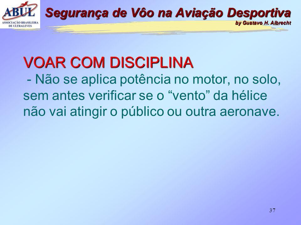 36 VOAR COM DISCIPLINA - Não se entra no hangar com o motor em funcionamento. Segurança de Vôo na Aviação Desportiva by Gustavo H. Albrecht