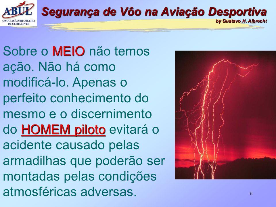 5 Esta é a tríade na qual se baseia a SEGURANÇA DE VÔO HOMEM MÁQUINAMEIO Segurança de Vôo na Aviação Desportiva by Gustavo H. Albrecht