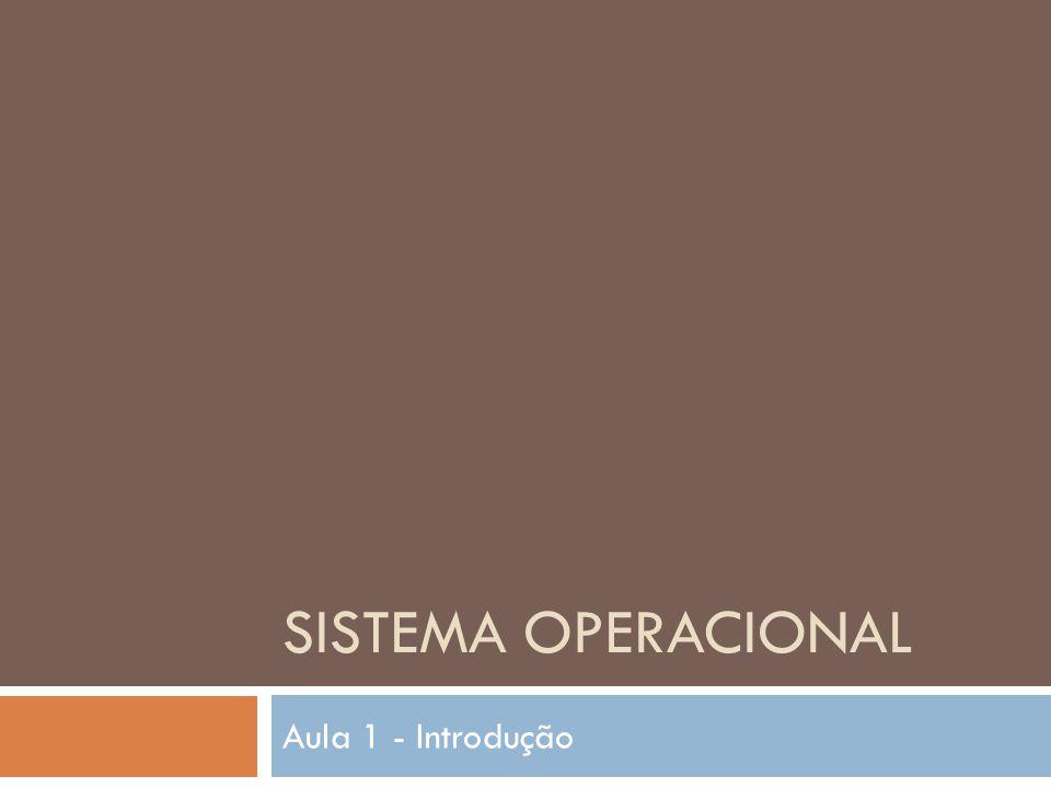 SISTEMA OPERACIONAL Aula 1 - Introdução
