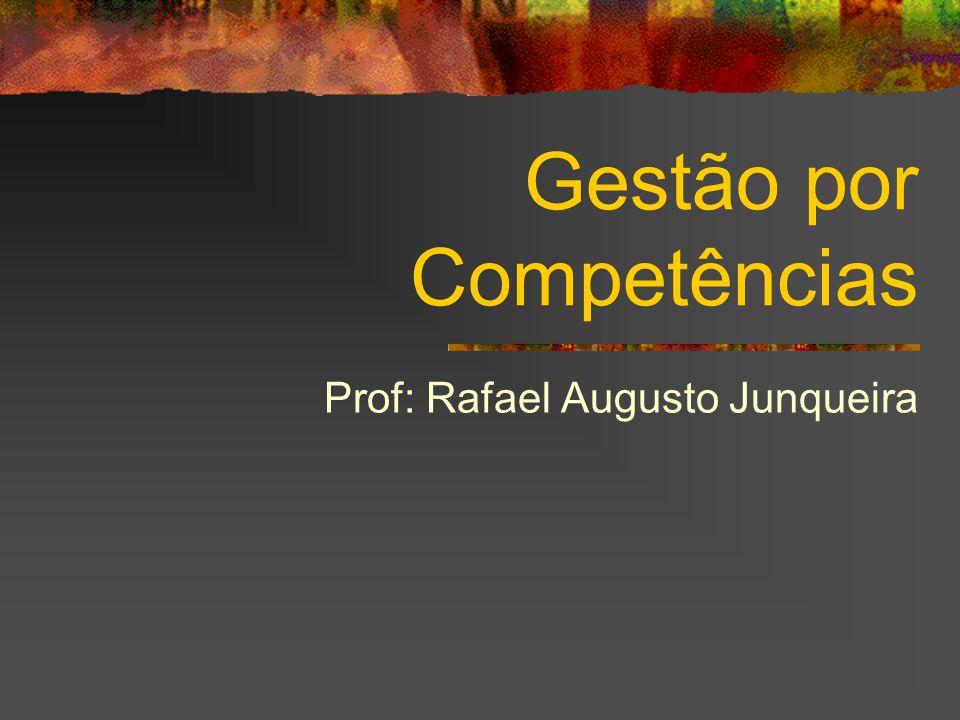 Gestão por Competências Prof: Rafael Augusto Junqueira